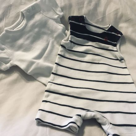 0-3 Month  Striped Playsuit and Body